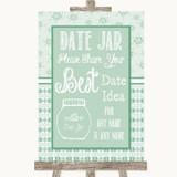 Winter Green Date Jar Guestbook Customised Wedding Sign