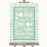 Winter Green Friends Of The Bride Groom Seating Customised Wedding Sign