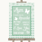 Winter Green I Love You Message For Mum Customised Wedding Sign