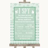 Winter Green I Spy Disposable Camera Customised Wedding Sign