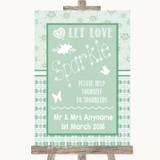 Winter Green Let Love Sparkle Sparkler Send Off Customised Wedding Sign