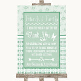 Winter Green Photo Guestbook Friends & Family Customised Wedding Sign