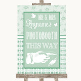 Winter Green Photobooth This Way Right Customised Wedding Sign