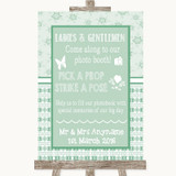 Winter Green Pick A Prop Photobooth Customised Wedding Sign