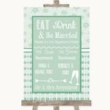 Winter Green Signature Favourite Drinks Customised Wedding Sign