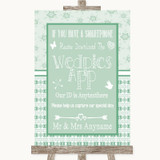 Winter Green Wedpics App Photos Customised Wedding Sign