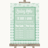 Winter Green Who's Who Leading Roles Customised Wedding Sign