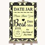 Yellow Damask Date Jar Guestbook Customised Wedding Sign