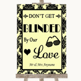 Yellow Damask Don't Be Blinded Sunglasses Customised Wedding Sign