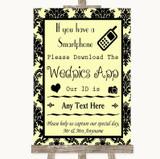 Yellow Damask Wedpics App Photos Customised Wedding Sign