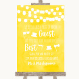 Yellow Watercolour Lights Photo Prop Guestbook Customised Wedding Sign