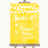 Yellow Watercolour Lights Polaroid Picture Customised Wedding Sign