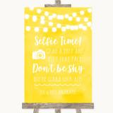 Yellow Watercolour Lights Selfie Photo Prop Customised Wedding Sign