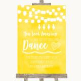 Yellow Watercolour Lights Toiletries Comfort Basket Customised Wedding Sign