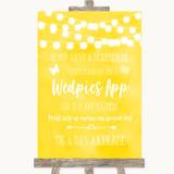 Yellow Watercolour Lights Wedpics App Photos Customised Wedding Sign