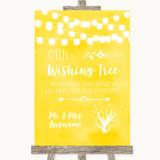 Yellow Watercolour Lights Wishing Tree Customised Wedding Sign