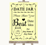 Yellow Date Jar Guestbook Customised Wedding Sign
