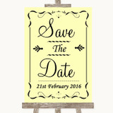 Yellow Save The Date Customised Wedding Sign
