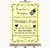 Yellow Wedpics App Photos Customised Wedding Sign