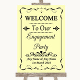 Yellow Welcome To Our Engagement Party Customised Wedding Sign