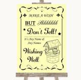 Yellow Wishing Well Message Customised Wedding Sign