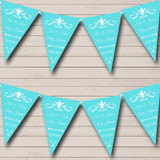 Regal Or Tiffany Blue Wedding Anniversary Party Bunting