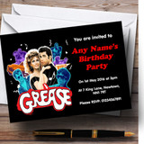 Grease Customised Birthday Party Invitations