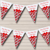 Red Poppy Shabby Chic Vintage Wedding Anniversary Party Bunting