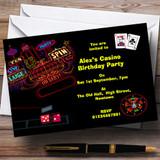 Las Vegas Casino Theme Customised Birthday Party Invitations