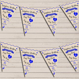 Party Decoration Sapphire 45th Wedding Anniversary Bunting Garland Party Banner