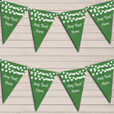 Deep Green Watercolour Lights Wedding Anniversary Bunting Garland Party Banner