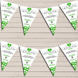 Hearts Party Decoration Emerald 55th Wedding Anniversary Bunting Party Banner