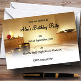 Relaxing Weekend Spa Day Theme Customised Birthday Party Invitations