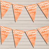 Orange Watercolour Lights Wedding Anniversary Bunting Garland Party Banner