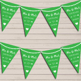 Heart Mr & Mrs Apple Green Wedding Anniversary Bunting Party Banner