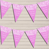 Burlap & Lace Pink Wedding Anniversary Bunting Garland Party Banner