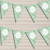 Lace Pattern Green Wedding Anniversary Bunting Garland Party Banner