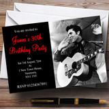 Elvis Presley Customised Party Invitations