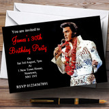 Elvis Presley Red Customised Party Invitations