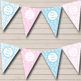 Pink And Blue Grow Stork Boy Girl Baby Shower Bunting