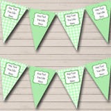 Green Gingham And Polka Dot Baby Shower Bunting