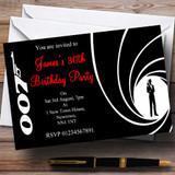 James Bond Customised Party Invitations