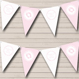 Girl Pink And White Baby Shower Bunting