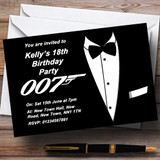 James Bond Themed Customised Party Invitations