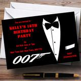 James Bond Theme Customised Party Invitations
