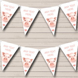 Cute Watercolour Pigs Baby Shower Bunting