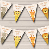 Jungle Animals Cute Baby Shower Bunting