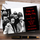 The Beatles Theme Customised Party Invitations