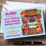 Aqua Tropical Luau Hawaiian Customised Party Invitations