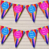 Wood Rainbow Colours Baby Shower Bunting